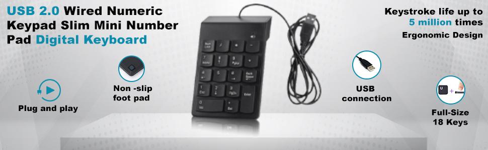 number keypad for laptop