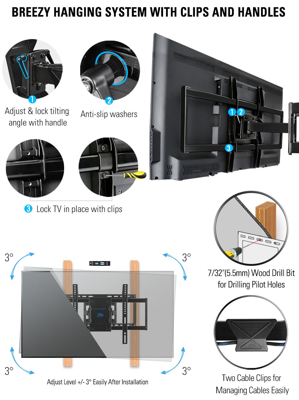 tv mount tv wall mount tv bracket full motion tv mount tv wall mount 65 inch swivel and tilt tvmount