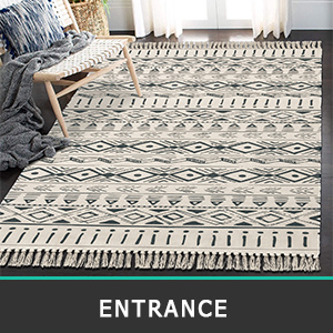 washable cotton area rug for bedroom