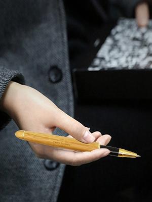 Shiro Vintage Stylo plume avec /étui /él/égant en bois de bambou /édition r/étro
