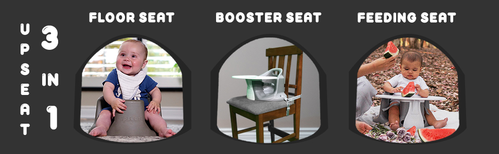 upseat, baby floor seat, highchair, booster seat, feeding seat, 3 in 1, baby seat for sitting up