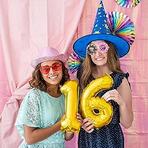 Birthday photobooth props