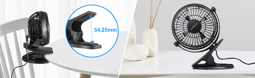 2-in-1 desk & clip fan