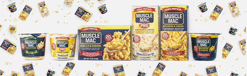 Macaroni amp; Cheese, Pasta, Quick Meal, Snack, High Protein, Shells, Microwaveable, Cup, Muscle Mac