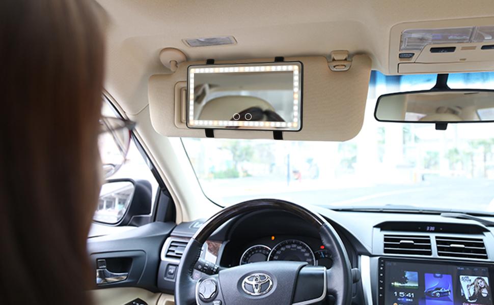 Car Visor Mirror Car Makeup Mirror