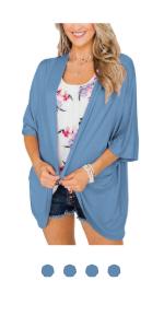 sky blue kimono cardigan