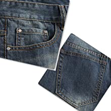Mens Ripped Biker Washed Jeans Straight Fit Distressed Holes Moto Denim Pants
