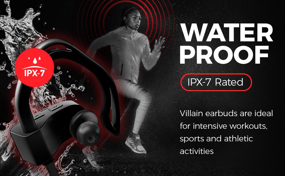 headphone earbud earphone cordless sweatproof waterproof ipx7