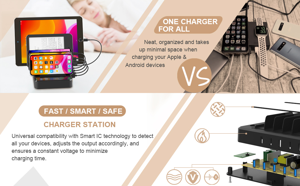 charging station for apple products ipad iphone charging dock