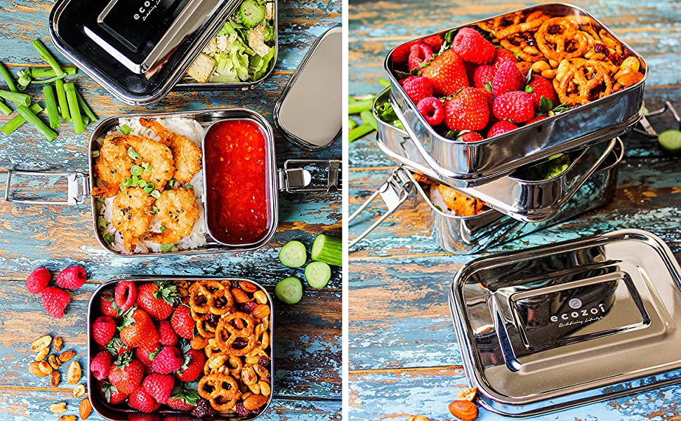 Stainless Steel 3-Tier Eco Lunch Box
