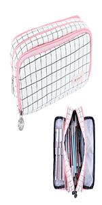 Rolin Roly Trousse /à Crayons Chat Mignon Plumier Trousse Grande Papeterie Pouch Maquillage Fille Organisateur /Étui /à Crayons R/ÉTractable pour Maquillage Students Pencil Case