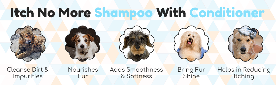 B07QWV6J9F- Papa Pawsome Itch No More Shampoo with Conditioner For Pet Dog Care- SPN FOR-1