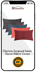 Chevron Jacquard Pillow Covers