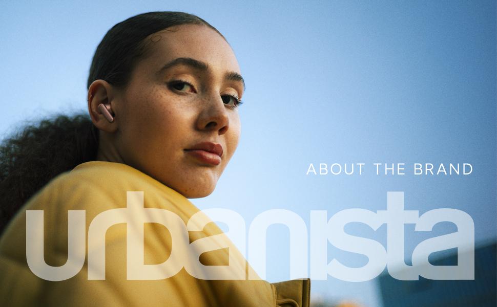 urbanista, wireless headphones, blue, wall, woman, model, afro, wireless, headphones, rose gold,