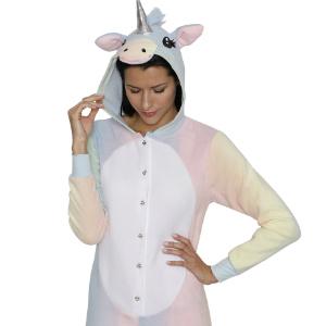 costume pajama pj unicorn fairy tale horse horn rainbow women pj pjs sleepwear disguise