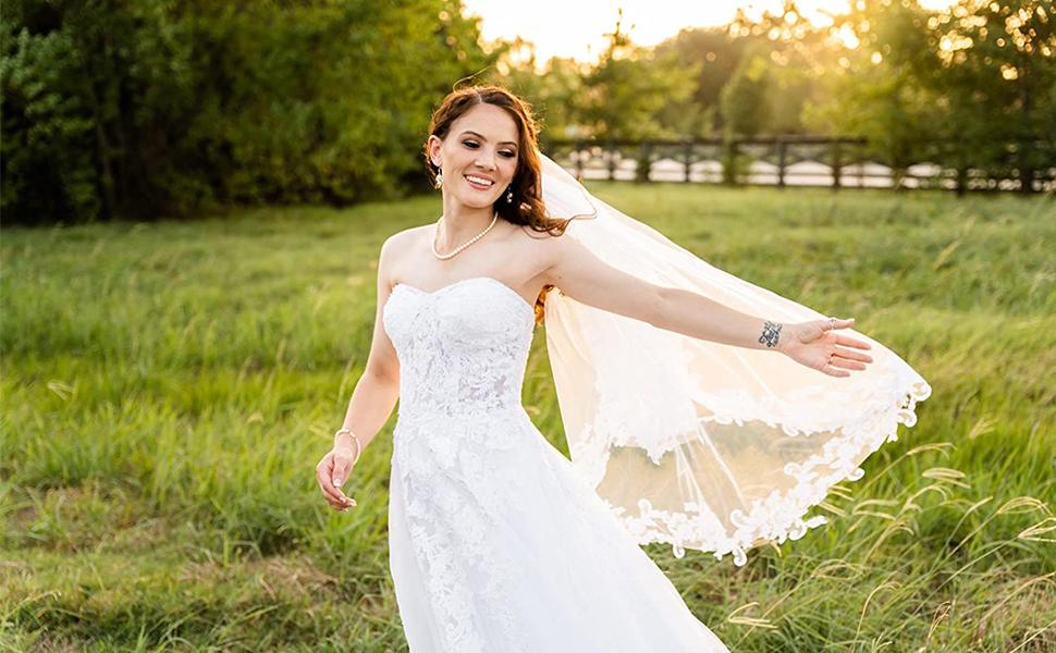 shourt wedding veil