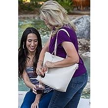 Portovino wine purse, wine totes, insulated wine bag, beverage bag, wine lovers gift, Cooler bag