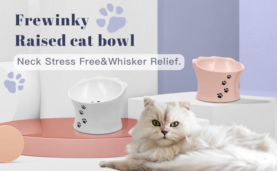 cat bowl,cat water bowl,cat food bowl,elevated cat bowl,raised cat food bowl whisker fatigue