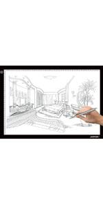 AGPTEK A3 Tableta de Luz, Drawing Pad Ultradelgada, Mesa de Luz de ...