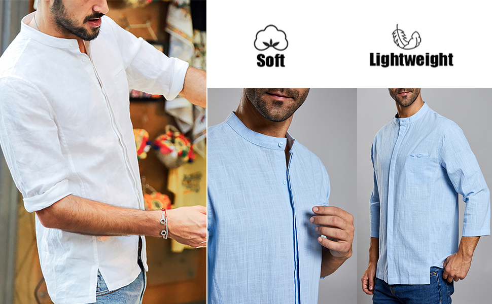 Cotton,Linen.Ultra soft,stretch,comfortable and breathable