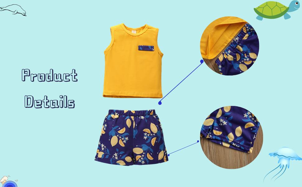 Boys clothes shorts set