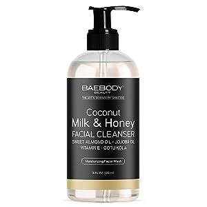 Baebody's Coconut Milk & Honey Facial Cleanser