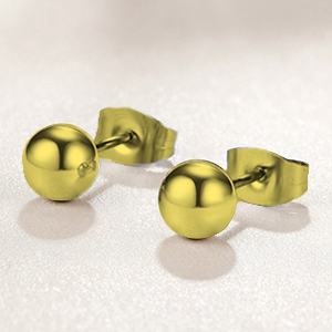 BRUSHED BALL 5MM TO 28MM STERLING SILVER PLATED 18K GOLD PLATED GENUINE COPPER