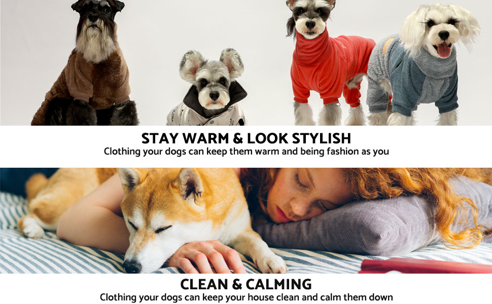 dog clothes hoodies sweaters pajamas for small dogs girl boy christmas jackets winter clothes shirts