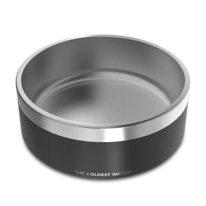 dog bowl, steel, deep, stainless steel, pet, healthy, design, no spill, non-skid, best, durable
