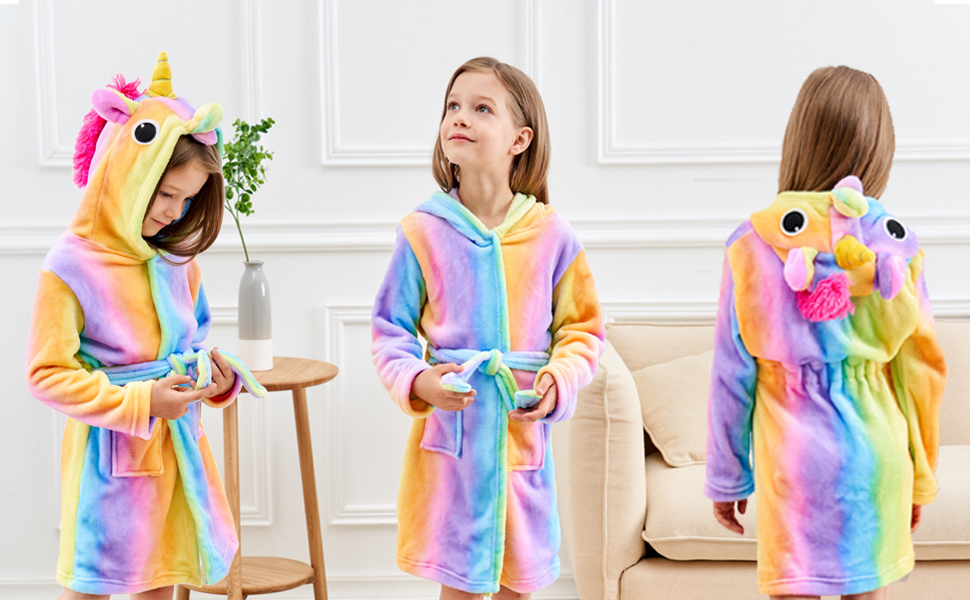 doctor unicorn, unicorn gifts, bathrobe for girls