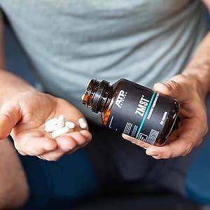 ZMST man hands pill supplements