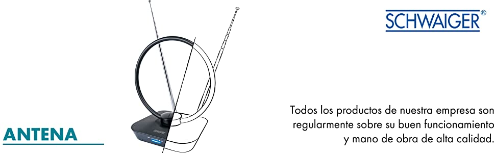 SCHWAIGER -20389- Dipolo de anillo VHF para exteriores | Antena de radio FM | antena para radios, sistemas estéreo, sistemas de audio hifi, ...