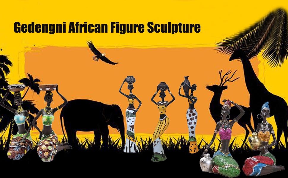 African Black Figure Sculpture
