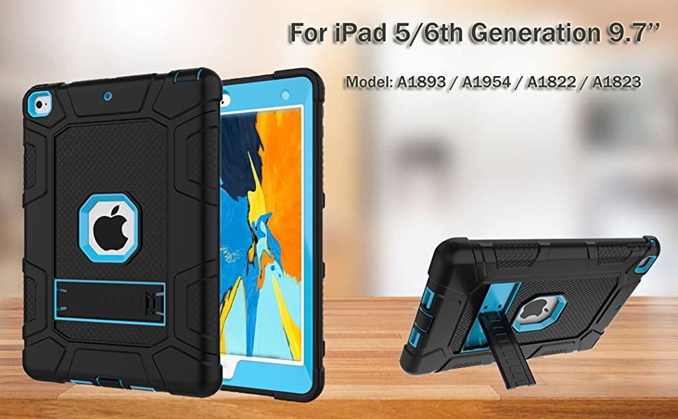 Amazon Com Rantice Case For Ipad 6th Generation Ipad Case Ipad 9 7 Case Hybrid Shockproof Rugged Drop Protection Cover Built With Kickstand For Ipad 9 7 5th 6th Gen Inch A1893 A1954 A1822 A1823