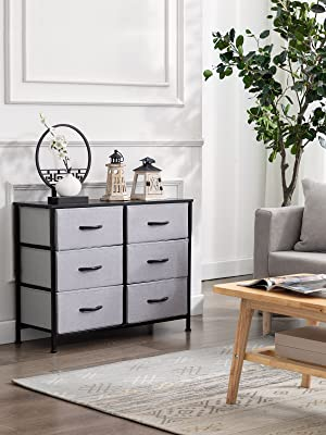 Duhome Dresser With 6 Drawers, Fabric Dresser for Bedroom Organizers and Storage
