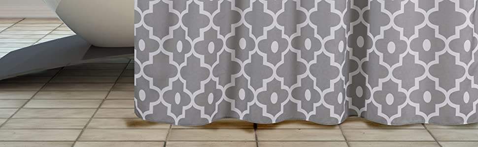 fabric shower curtain printed