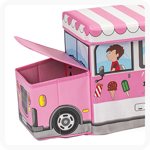 Fire truck toy storage