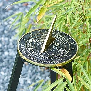 Golden anniversary sundial outdoor