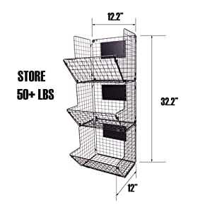 Wire Basket for Storage in Bathroom Bedroom Laundry Room