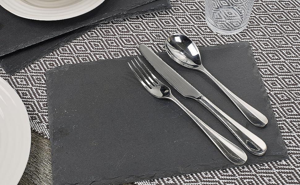 slate plate dinner food lifestyle clean