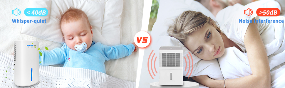 low noise for the dehumidifier