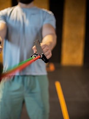weerstandsbanden met handgrepen thuis workout apparatuur