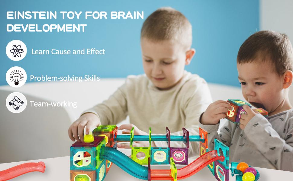 magnet toys kids magnetic building tiles