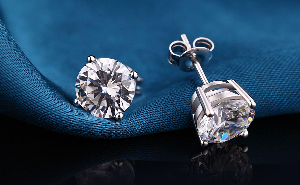 stud earrings sterling silver diamond earrings for women diamond men stud