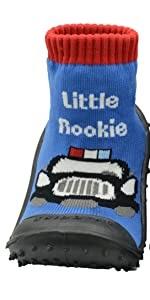 Skidders Baby Toddler First Walker Boys Grip Rubber Non-Slip Sole Flexible Shoes Little Rookie Blue