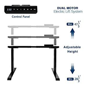 sit stand desk electric