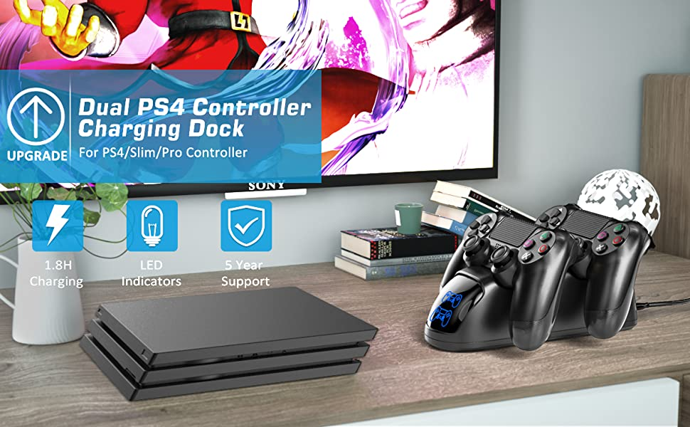 ps4 controller charging dock station