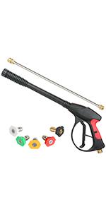 Sooprinse High Pressure Washer Gun Power Spray Gun 4000psi
