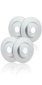 Geomet Rotors, coated, front, rear,