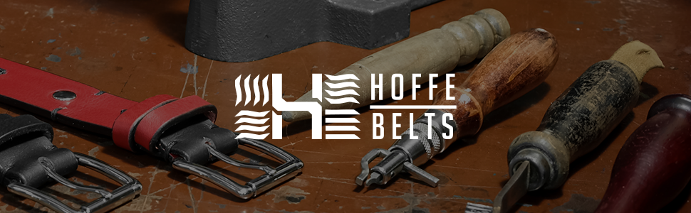 handmade leather belts hoffebelts banner